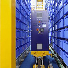 Stockage automatisé : transstockeur pour cartons ou caisses plastique